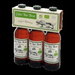 Cidre Brut Biologique - Vergers Réginéens 3x33cL