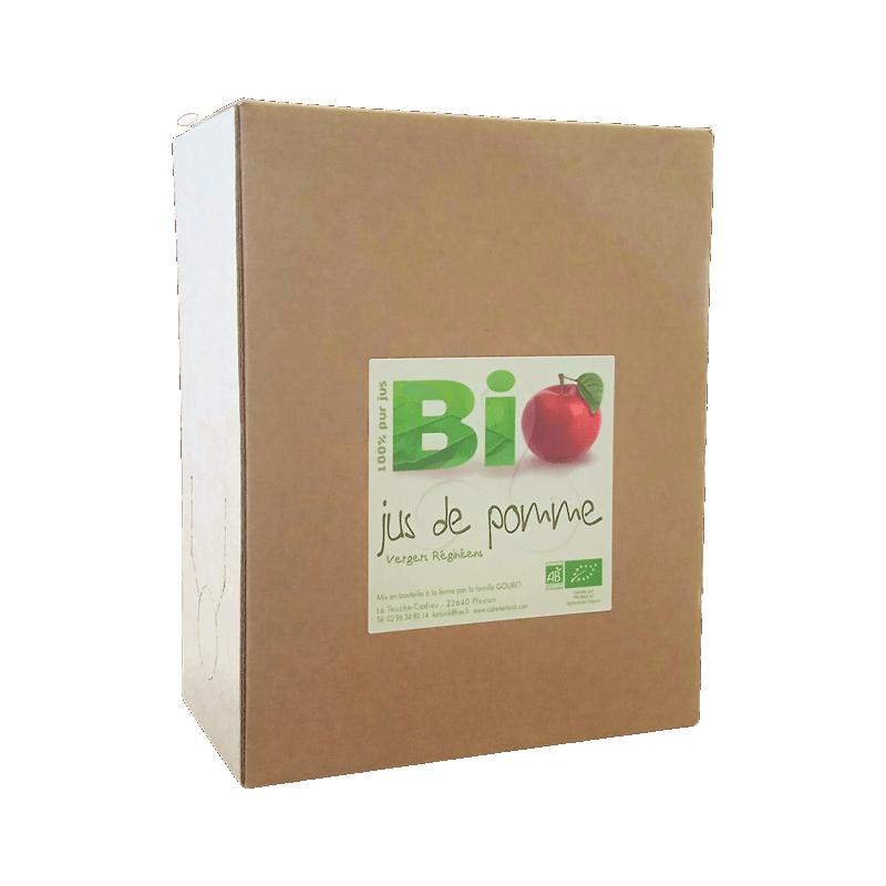Jus de pomme Biologique Vergers Réginéens 3L